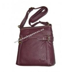 Dámská kožená kabelka DD 1439 fialová