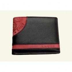 Pánská kožená peněženka Lagen LG-1812 černá/červená