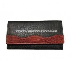Dámská kožená peněženka Lagen 4013 černá/červená
