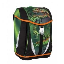 Školní chlapecký batoh Bagmaster POLO 6 B zelená/černá/oranž./dinosaurus