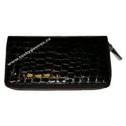 Dámská kožená peněženka Evoco 614752 černá