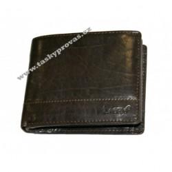 Pánská kožená peněženka Lagen V-76/T tm.hnědá