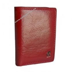 Kožené pouzdro na vizitky nebo kreditní karty Cosset Komodo 4410 bordó