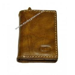 Dámská kožená peněženka DD EX 1482 cognac