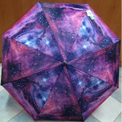 Deštník holový automat Perletti 25755 fialovo-růžový