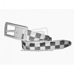 LOAP Pásek CANNARA A12 bílá/šedá