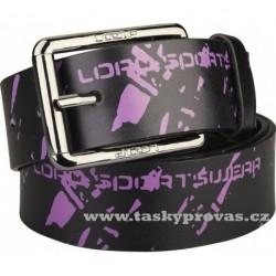LOAP Pásek FONI V09K černý/fialový (pas 94cm)