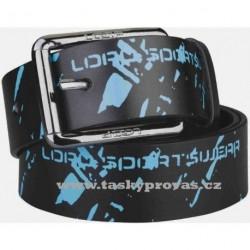 LOAP Pásek FONI V09L černý/modrý (pas 85cm)