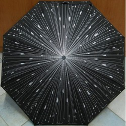 Deštník skládací Bargués 4013 déšť/ stříbrný