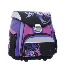Školní aktovka Bagmaster A 0715 A Black/violet (černá/fialový ptáček)