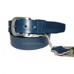Kožený pásek Black 007-43 modrý