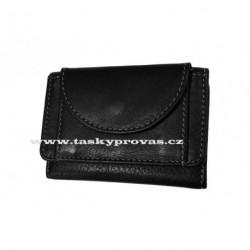 Malá kožená peněženka DD D 919-01 černá