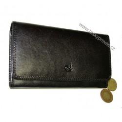 Dámská kožená luxusní peněženka Cosset 4427 Komodo černá
