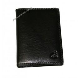 Pouzdro na doklady kožené Cosset 4426 Komodo černé