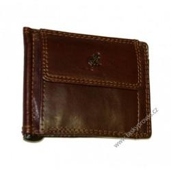 Kožená peněženka dolarka Cosset Komodo 4497 hnědá