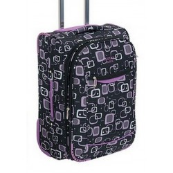 Cestovní kufr Airtex 70 2922 černá/fialová