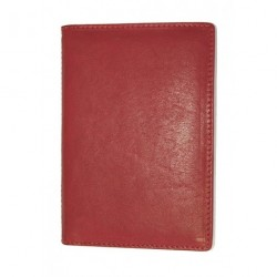 Pouzdro na doklady kožené King WOW 371 červená