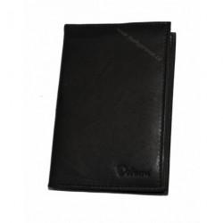 Pouzdro na doklady kožené Delami 8694 černá