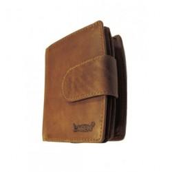 Kožená peněženka dámská Lagen 3807/V hnědá