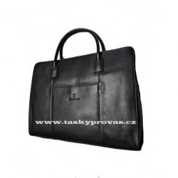 Luxusní kožená kabelka Hexagona 462698 černá
