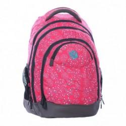 Batoh studentský Bagmaster NIE 0115 A Pink (růžová/šedá)
