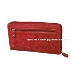 Dámská kožená peněženka DD D206-38 červená (ražba)