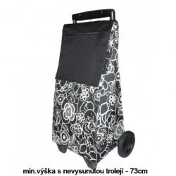 Nákupní taška na kolečkách Dup 230304-051 černá potisk