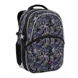 Dívčí školní batoh Bagmaster MADISON 6 B BLACK/PINK/SILVER (černá/růžová/stř.)