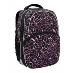 Dívčí školní batoh Bagmaster MADISON 6 A BLACK/PINK (černá/růžová)