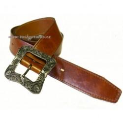 Opasek kožený Penny Belts 4441 hnědý