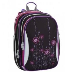 Dívčí školní batoh Bagmaster ELEMENT 6 A PINK/GREEN (černá/růžová/zel.)