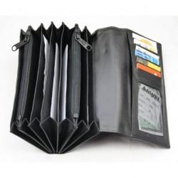 Kožená černá kasírka ARWEL 515 - 2401C černá