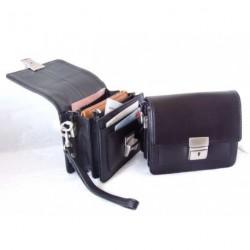 Pánská kožená mini etue Arwel 611 - 7322 černá