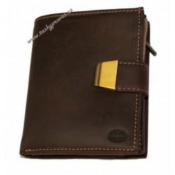 Dámská kožená peněženka DD SLW 299 tma.hnědá