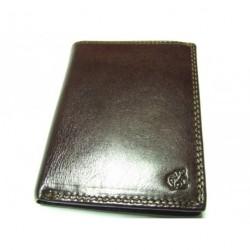Peněženka pánská kožená Cosset 4472 KOMODO tm.hnědá