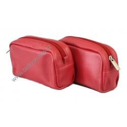 Dámská kožená etue Arwel 611-0395 červená