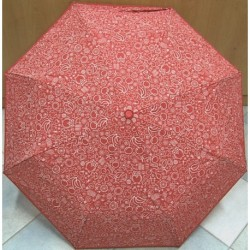 Deštník skládací Blue Drop A858DC červený s obrázky