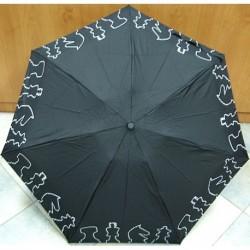 Deštník mini skládací Bargués  4006C černý/ šachy