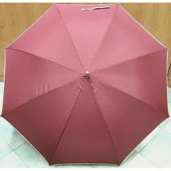 Deštník holový vystřelovací Benzi PA011C vínový/béž.lem