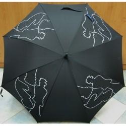Deštník holový Bargués 5014 černý/ šachy
