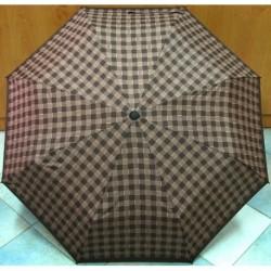 Deštník skládací Galitzine GZ501 hnědý/ kostka