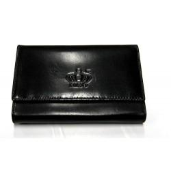 Peněženka kožená KING 3887 SL-19 černá