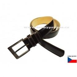 Pánský luxusní kožený opasek Hajn 133701.9 tm.hnědý