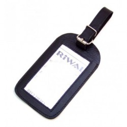 Kožená visačka na zavazadlo Arwel 619-5405 černá