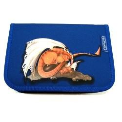 Penál školní Herlitz 11280773 modrá/drak
