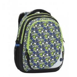 Školní batoh Bagmaster MAXVELL 6 B GREY/GREEN/BLUE (šedá/zel./modrá)