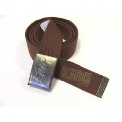 Textilní opasek King NO 48/2-A hnědá