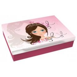 Školní krabice do lavice Sofie girl S (růžová) - snížená velikost