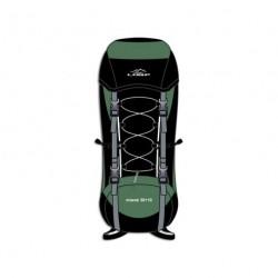 batoh Loap MIWOK  50+10L černá/zelená