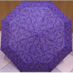 Skládací deštník Blue Drop A457DC fialoví motýli